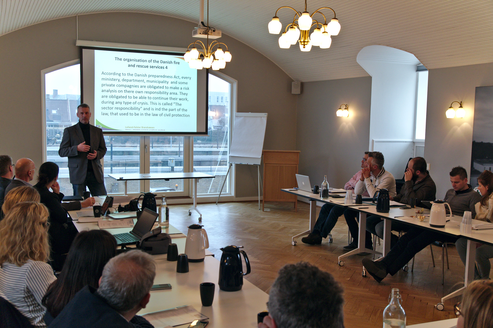 Discussion with civil protection authorities and progress on database in Denmark